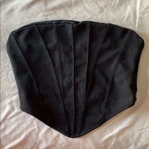 Black tube top (CORSET DETAIL)